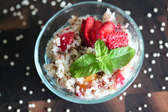 Fruit and Mint Quinoa Salad with Honey Lime Dressing