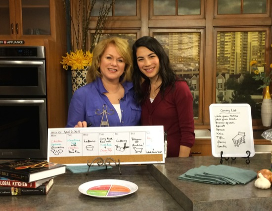 With the wonderful Helen Raptis, co-host of of Portland's AM Northwest.