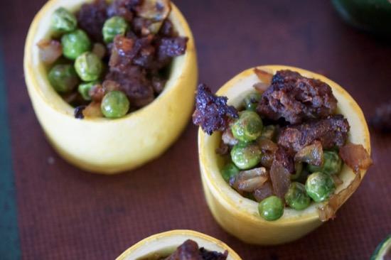 Curry Stuffed Zucchini Cups {Recipe Redux}