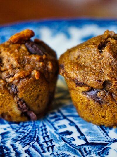Spiced Pumpkin Chocolate Chip Muffins